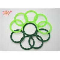 China Fluorine Rubber Seals O Ring Heat Resistant , Green O Rings For Aircraft Engine wholesale