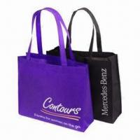 China Fashionable Nonwoven Shopping Bags with Silkscreen Printing, Customized Logos are Accepted wholesale