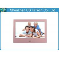 China 7 Calendar Lcd Photo Frame / Electronic Picture Frame Pink / White With Video Playing wholesale