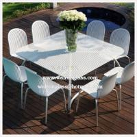 China Outdoor Dining Room Table Top with Tempered/Toughened Glass with CE wholesale