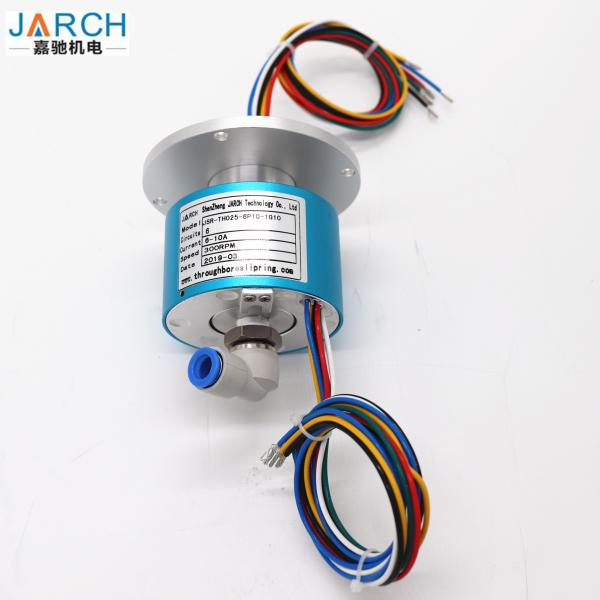 Quality Coupling Type High Speed Rotary Union , 5A Pneumatic Slip Ring With 6 Circuits for sale
