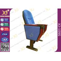 China Commercial Fabric Folding Auditorium Theater Seating With Outside Table wholesale