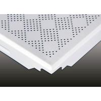 China Gingham Check Moisture Proof Aluminum  Clip In Ceiling Tiles for shopping mall wholesale