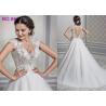 China Shaped Princess Style Wedding Dresses / Beads Decoration Princess Ball Gowns wholesale