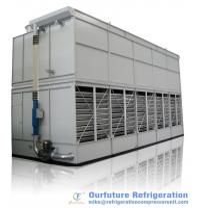 China 380V 3 Phase 50Hz Evaporative Cooling Condenser For Cold Storage Refrigeration System on sale