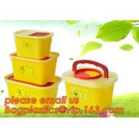 China BIOHAZARD WASTE CONTAINERS, PLASTIC STORAGE BOX, MEDICAL TOOL BOX, SHARP CONTAINER, SAFETY BOX, Disposable Hospital Bioh on sale
