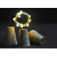 China Wedding / Holiday Cork Shaped Lights With Copper Wire And Wine String Light Cap wholesale