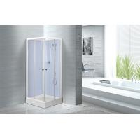 China Waterproof White Painted Profiles Glass Shower Cabins , Glass Shower Stall Kits wholesale
