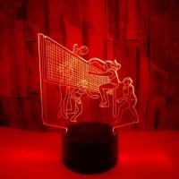 China 3D creative small table lamp Play volleyball 3D stereo lamp LED decoration personalized custom gift table lamp 3D night on sale