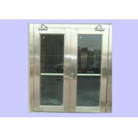 China Cheap 1.5 Hours 55 mm Class A Stainless Steel Fire Rated Glass Doors For Hospital/ Opening Force 66 N wholesale