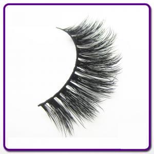 Synthetic Hair 3D Silk Eyelashes , Natural Looking False Eyelashes OEM Available