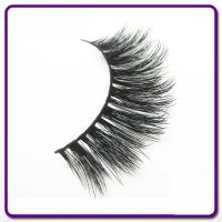 Synthetic Hair 3D Silk Eyelashes , Natural Looking False Eyelashes OEM Available for sale