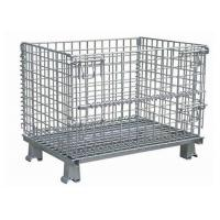 China Hot Dip Galvanized Steel Wire Mesh Storage Cage For Transport 1000 X 800 X 840mm wholesale