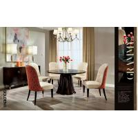 China American leisure style Dining room furniture set of Circle Table with Upholstery chairs and Dining buffet cabinets wholesale
