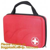China Red pu leather waterproof mini eva first aid kit case,first aid box plastic case carrying case,Medical Multi-functional wholesale