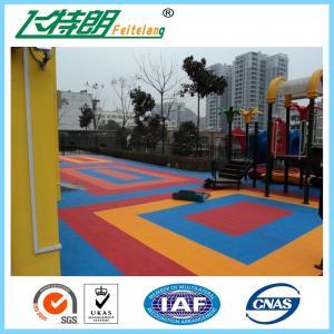 China Interlocking Rubber Floor Tiles Tennis Court Polyurethane Sports Flooring High Performance on sale