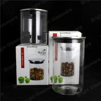 China Airtight Glass Storage Jar With Metal Lid For Kitchenware wholesale