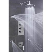 China Concealed 3 Way Thermostatic Shower Valve With High / Low Water Pressure Shower Heads wholesale