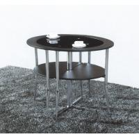 China black round tempered glass dining table set T056 on sale