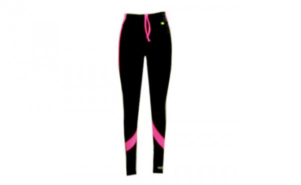 Quality Long Black Womens Exercise Pants Ladies Fitness Clothing Fluorescence Patch for sale