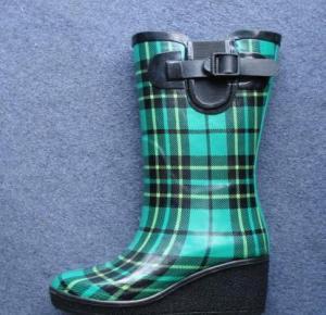 China Fashion Rubber Rain Boot (High Heel Rubber Rain Boots) on sale