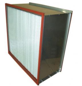 ISO Standard High Temperature Air Filter , Hepa Filter H13 H14 Efficiency