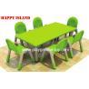 China Kindergarten PP Plastic Rectangular Table For Nursery School Children wholesale
