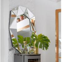 China Multi Bevelled 3D Wall Mirror Decoration Mirrored Glass Panel Light Weight wholesale