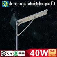 China High Lumen All In One Solar Led Street Lights Bridgelux 40w Bright LED Solar Lights wholesale