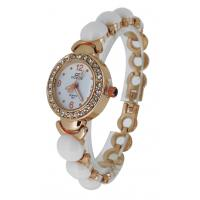 China White Beads Girls Bracelet Watches , Lover Wrist Watch Japan Movt wholesale