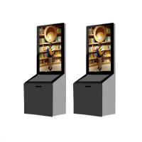 China 43 Inch Standing Advertising Display Bulit In Android / PC System With Donation Box wholesale