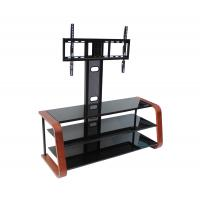 China Black Powder Coated Metal TV Media Stand With Swivelling Bracket , TV Bracket , TV Stand on sale