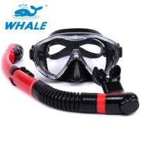Quality Red Black Diving Mask And Snorkel Sets Professional For Water Sports Equipment for sale