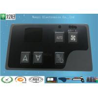 Gray Window Square Pillow  Embossing Membrane Switch Overlay With 3M 467 Backadhesive