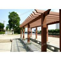 China WPC park pergola,outdoor plastic wood pergola,series colors for choose with customized size wholesale
