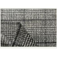 China One side Tartan , Black And White Hounds tooth / Swallow Grid Plaid Fabric wholesale