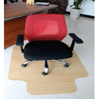 China Recycled Foldable Thick Wood Floor Chair Mat For l Shaped Desk , Custom Size wholesale