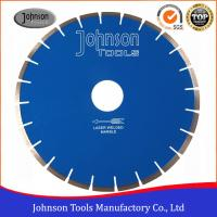China Laser Welded Diamond Rock Saw Blades , Dry / Wet Saw Diamond Blade For Cutting Marble wholesale