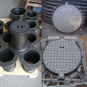 China Heavy Duty Cast Iron Manhole Cover Valve Accessories For Construction En124 Standard wholesale