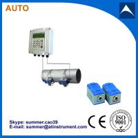 China Wall mounted clam-on ultrasonic flow meter wholesale