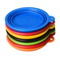 China Food Water Collapsible Pet Bowl , Colorful Portable Dog Bowl Collapsible wholesale
