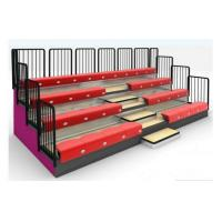 China Classic 4 Row Portable Indoor Bleachers Adjustable With Aluminum / Steel Seats wholesale