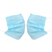 China Meltblown 3Ply Non Woven Face Mask With Earloops 50pcs / Bag on sale