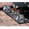 China Garden 4 LED Stone Solar Lights 1.2 Lumens Outdoor Rock LED Solar Spot Light wholesale