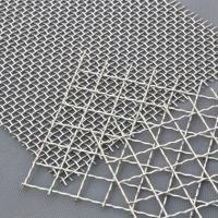 China Decorative Crimped Woven 65mn Square Hole Mine Sieving Galvanized Steel Material wholesale