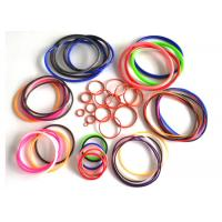 China AS568 fuel hydraulic heat resistant sealing rubber silicone colored o rings on sale