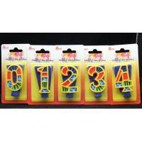 Buy cheap Handmade Painted Number Candle with Blue Set Square and Yellow Edge with colorful Paintings from wholesalers