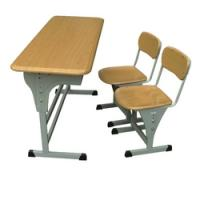 China metal school furniture student double desk and chair wholesale