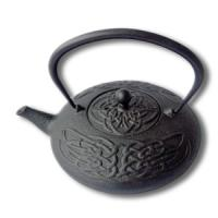 China 480ml cast iron teapot with Chinese knot patter design on sale