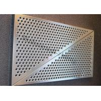 China 3mm SS Round Hole Perforated Metal Panels For Wall Panelling With Floding Edge wholesale
